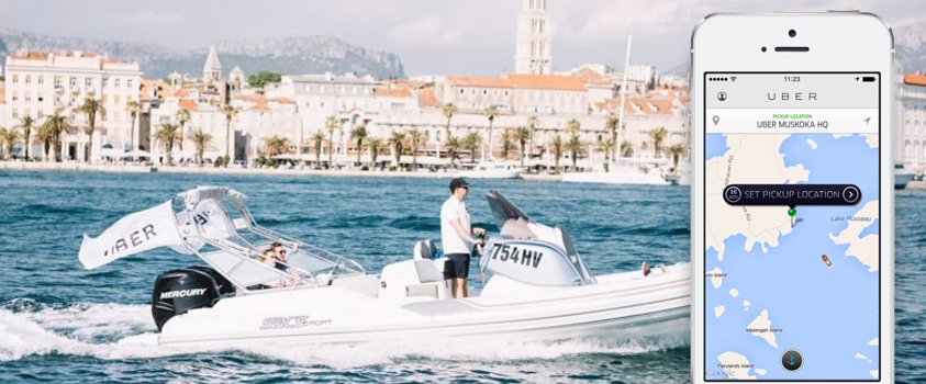 Uber launches Uberboat