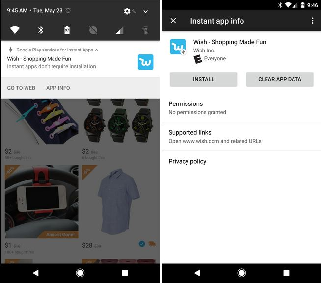 android instant app example