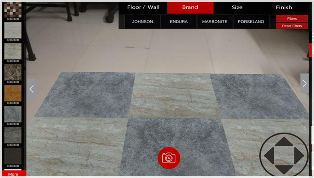 augmented reality flooring app