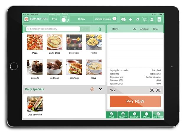 iPad PoS System