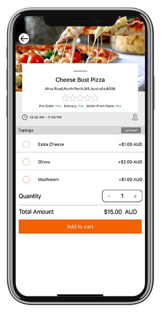 Customer App Screenshots