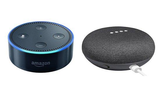 Amazon Echo Dot Google Home Mini