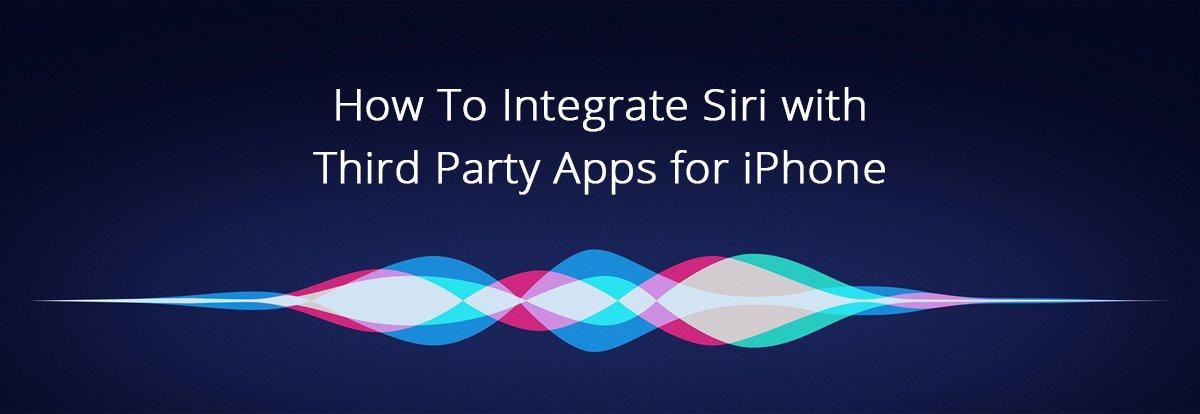 siri third party app integration