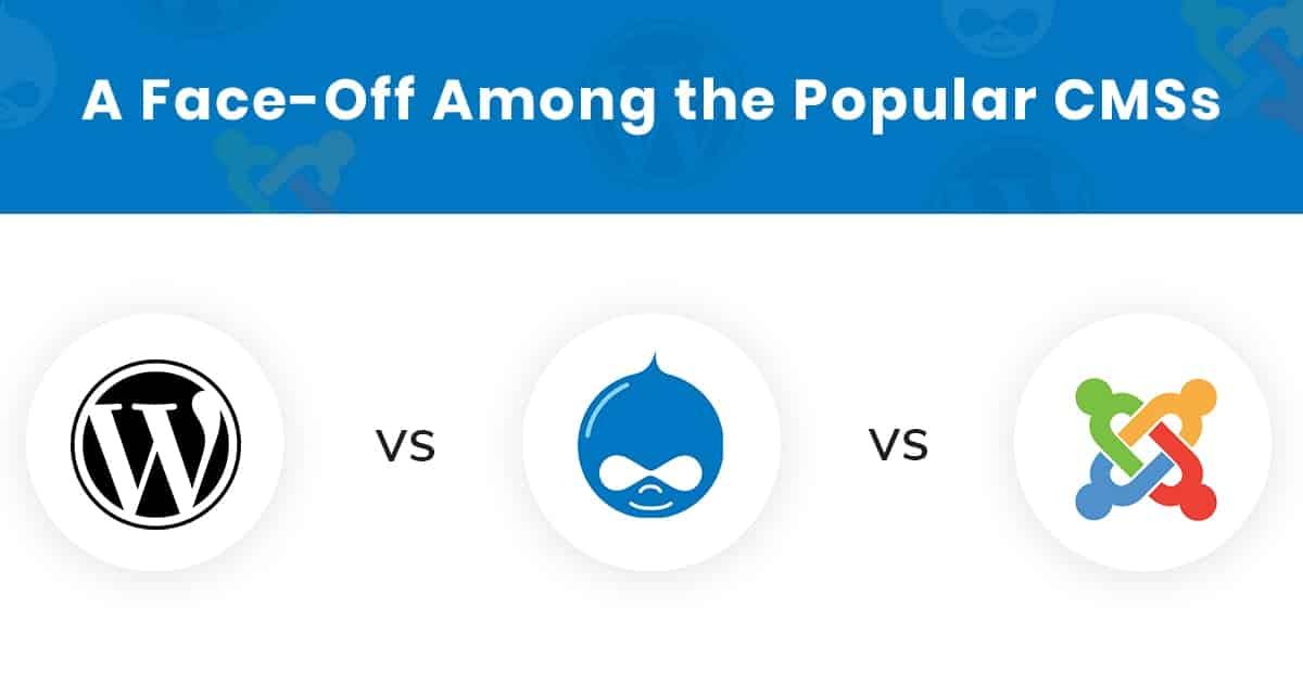 CMS Comparison: Drupal vs Wordpress vs Joomla Min