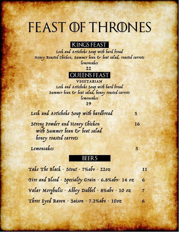 Theme Based Restaurant Menu Ideas