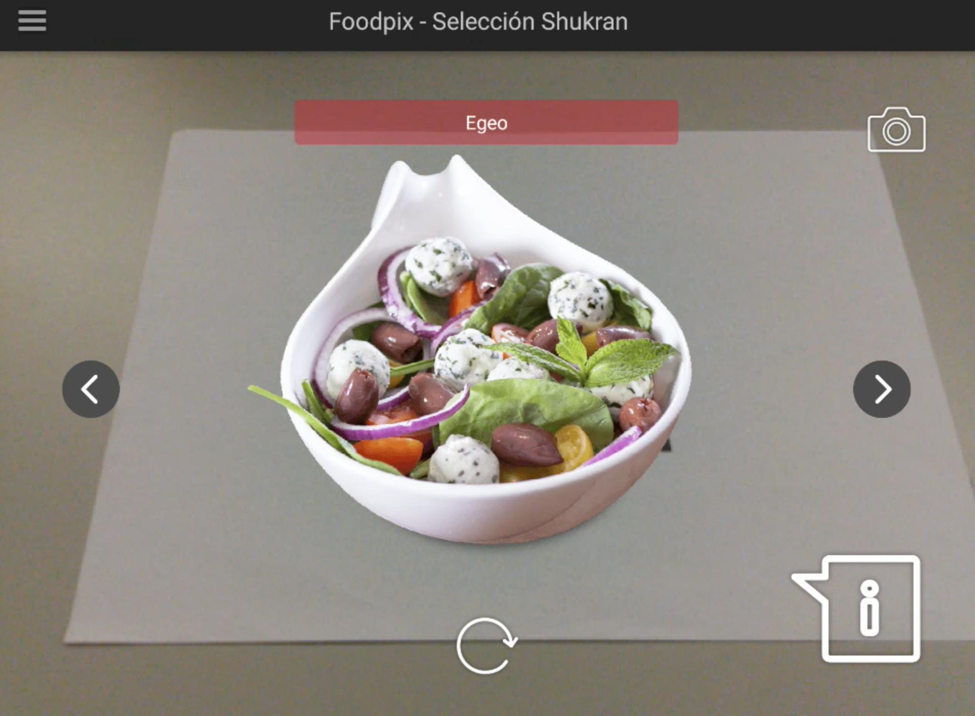 AR Based Food Menu ideas