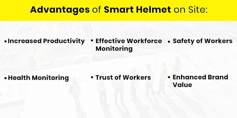 Advantages Of Smart Helmet On Site