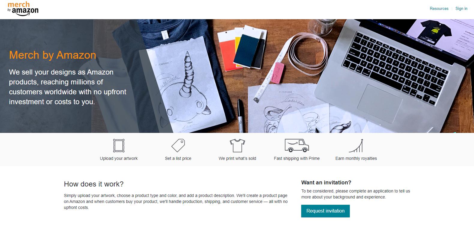 Amazon Merch Website