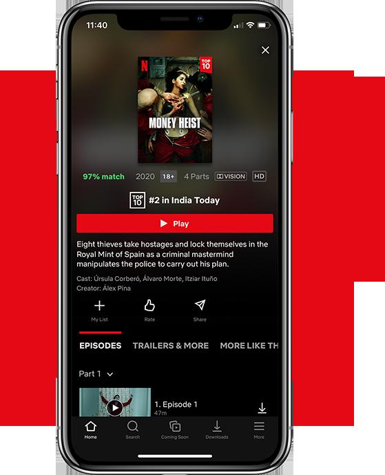 Netflix App iOS