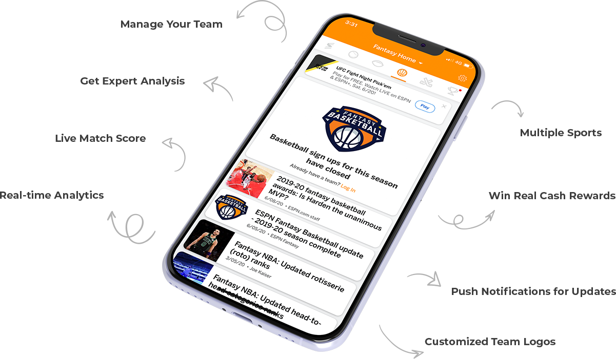 Top Features ESPN Fantasy Sports App
