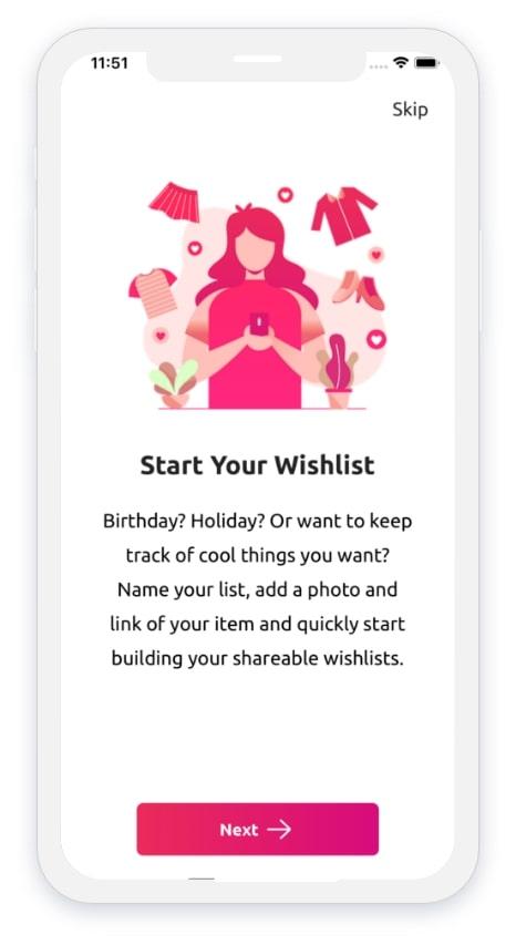 Top Gift App Screen